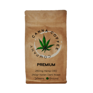 Premium Ground Coffee Infused with CBD | 250gr | Italian Roast Coffee